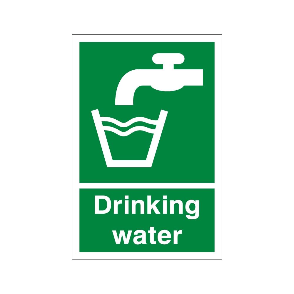 Drinking water 200mm x 300mm - 1mm Rigid Plastic Sign ...